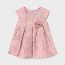 Rochie roz cu buline bebe fetiță Mayoral