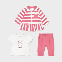 Trening roz cu tricou new born fetițe Mayoral