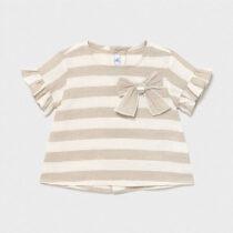 Bluză crem in dungi bebe fetiță Mayoral