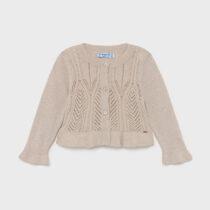 Cardigan crem tricot Ecofriends Mayoral