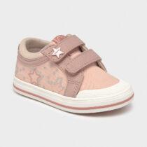 Pantofi sport roz din pânză cu steluțe, Mayoral