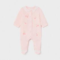 Pijama roz cu cireșe new born fetițe Mayoral