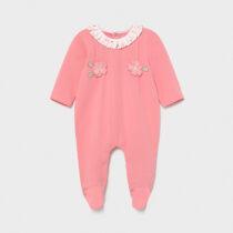 Pijama roz cu flori new born fetiță Mayoral