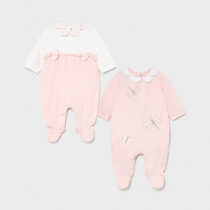 Set 2 pijamale lungi roz cu libelulă Mayoral