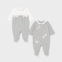 Set 2 pijamale lungi gri cu libelulă Mayoral