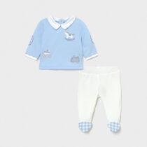 Set pantaloni cu botoșei albaștri, Mayoral