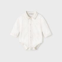 Body cămașă ivory ECOFRIENDS nou-născut băiat Mayoral