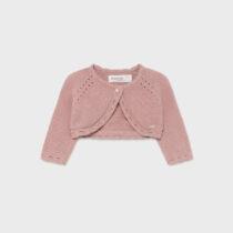 Bolero tricot wild rose fetițe Mayoral
