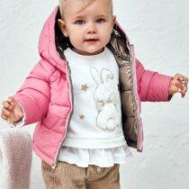 Geacă roz-gold ECOFRIENDS reversibilă fetițe Mayoral