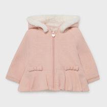 Hanorac roz căptușit blăniță fetițe Mayoral