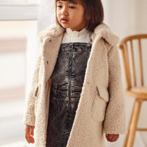 Palton crem încrețit fetițe Mayoral