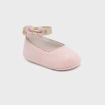 Pantofi dusty pink din catifea nou-născut fată Mayoral