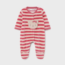 Pijama în dungi cranberry ursuleț, Mayoral