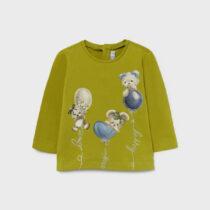 Bluziță olive imprimeu ursuleți fetițe Mayoral