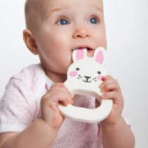 Jucărie dentiție iepuraș roz