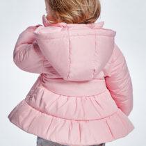 Geacă roz ECOFRIENDS cu glugă bebe fetițe Mayoral