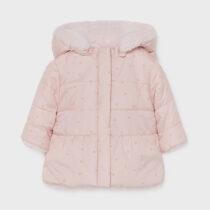 Geacă roz ECOFRIENDS reversibilă blăniță roz Mayoral