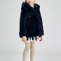 Palton marino din blană fetițe Mayoral