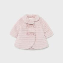 Palton rosa blăniță nou-născut fetițe Mayoral