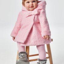 Palton încrețit roz fetițe, Mayoral