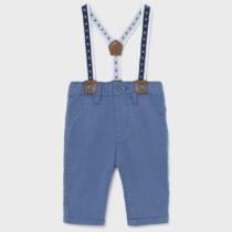Pantaloni lungi albaștrii cu bretele Mayoral