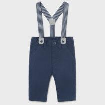 Pantaloni lungi marino cu bretele Mayoral