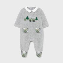 Pijama gri cu mașinuță nou-născut băiat Mayoral