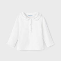 Bluziță ivory guleraș polo fetițe Mayoral