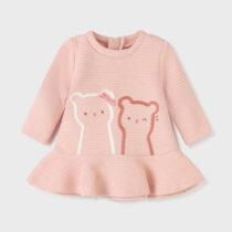 Rochie roz matlasată nou-născut fetițe Mayoral