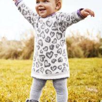 Rochie gri din tricot bebe fetițe Mayoral