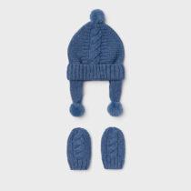 Set căciulă și mănuși albastre nou-născut băiat Mayoral