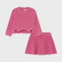 Set fustă tricot roz fucsia, Mayoral