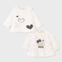 Set 2 bluzițe ivory fetițe Mayoral
