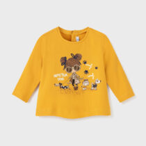 Bluziță mostaza imprimeu fetițe Mayoral