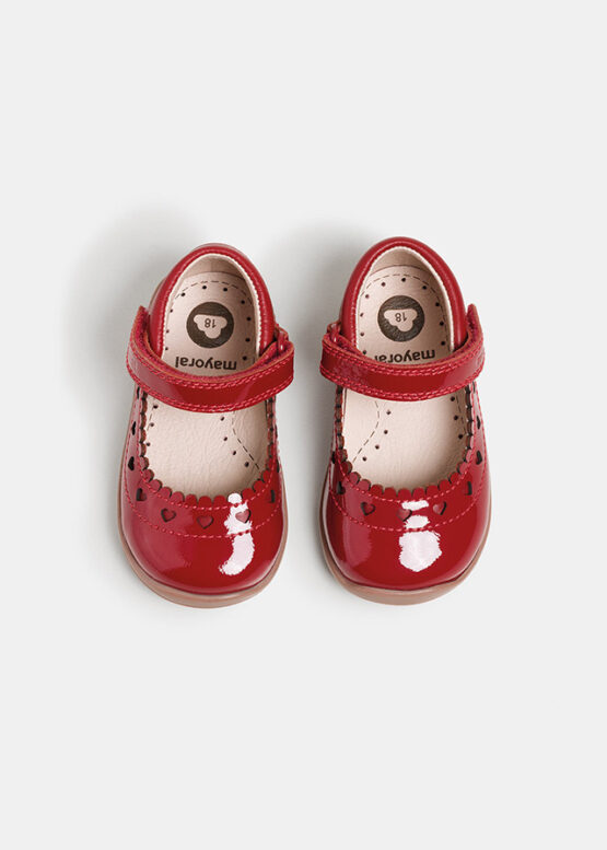 Balerini roșii primii pași bebe fată Mayoral