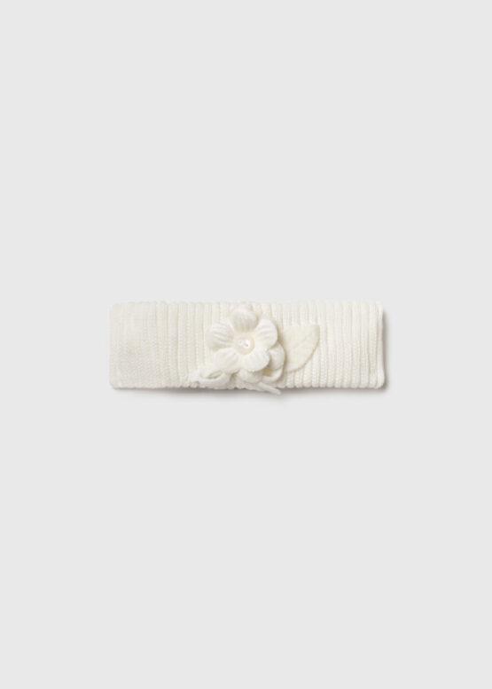 Bentiță ivory tricotată bebe fetiță Mayoral