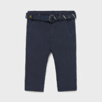 Pantaloni lungi azul cu centură bebe băiat Mayoral