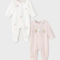 Set 2 pijamale rosa baby ECOFRIENDS Mayoral