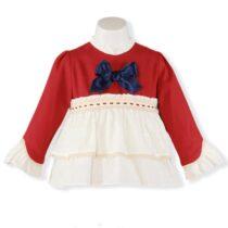 Bluza visinie cu alb Miranda Textil