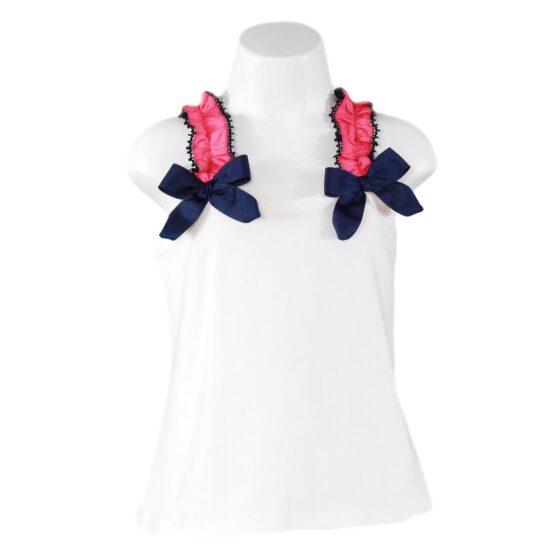 Bluză albă cu mânecă scurtă Miranda