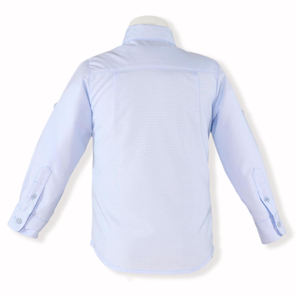 Camasa pentru baietei cu maneca lunga de culoare albastra