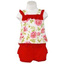 Costumaș roșu înflorat Miranda Textil