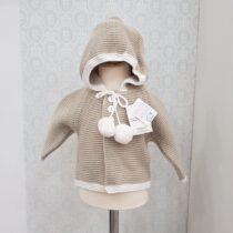 Jachetă tricotată crem