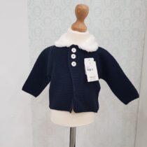 Jacheta bleumarin tricot Juliana
