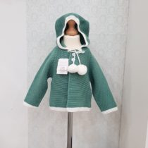 Jachetă tricotată verde