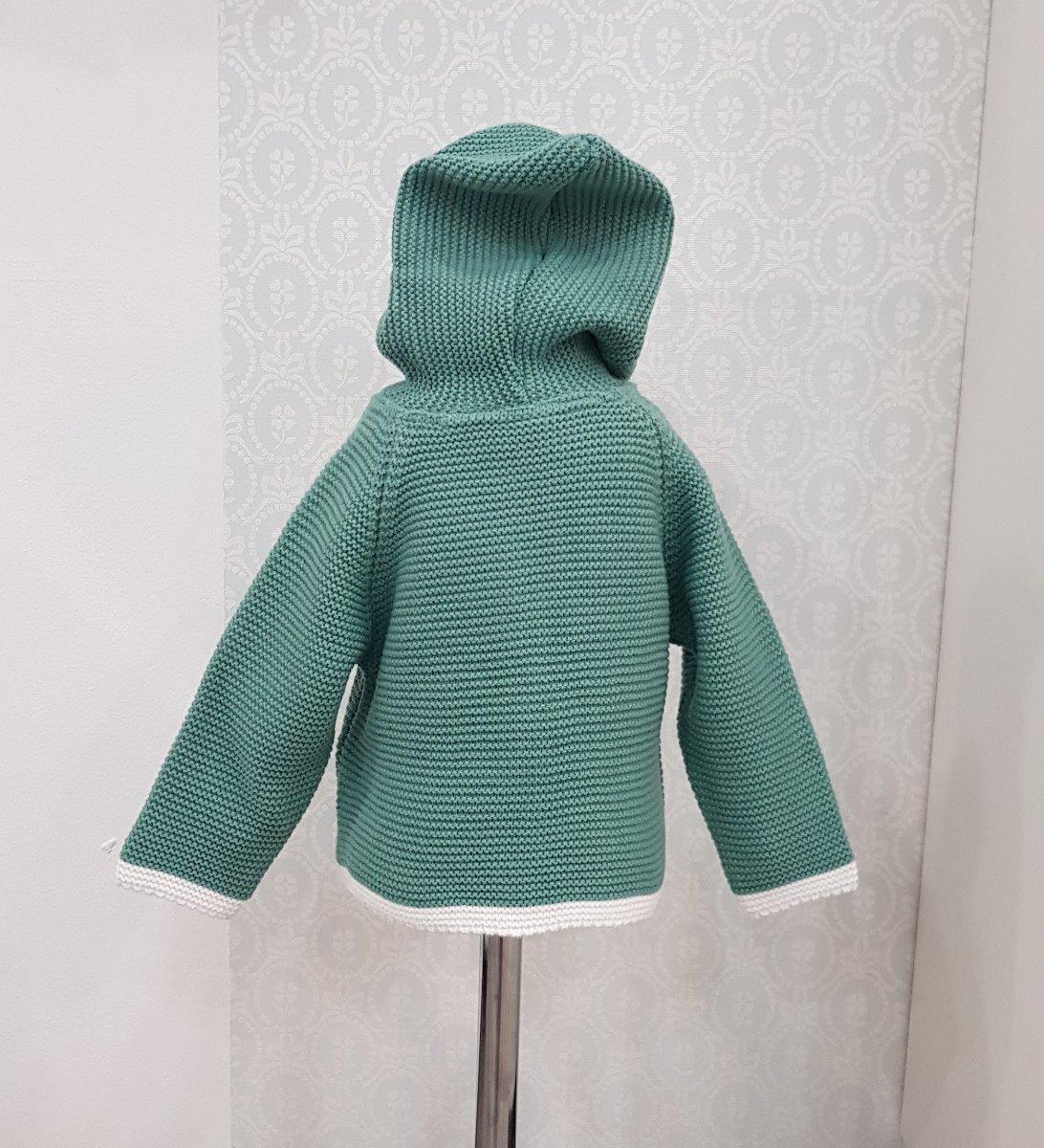 jacheta verde tricot