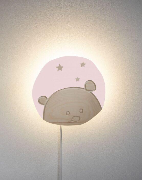 Lampa de perete Ursulet roz