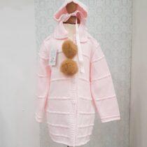 Palton tricot roz
