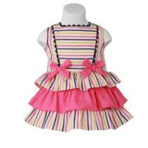 Rochiță roz cu dungi Miranda Textil