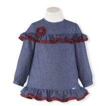 Rochita albastra patratele Miranda Textil